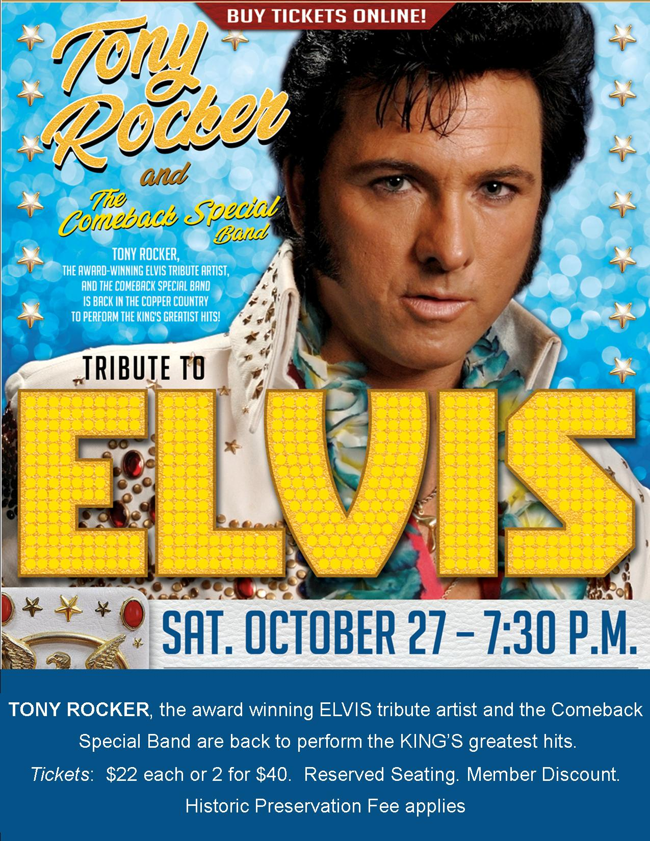 TONY ROCKER (ELVIS TRIBUTE) & the Comeback Special Band